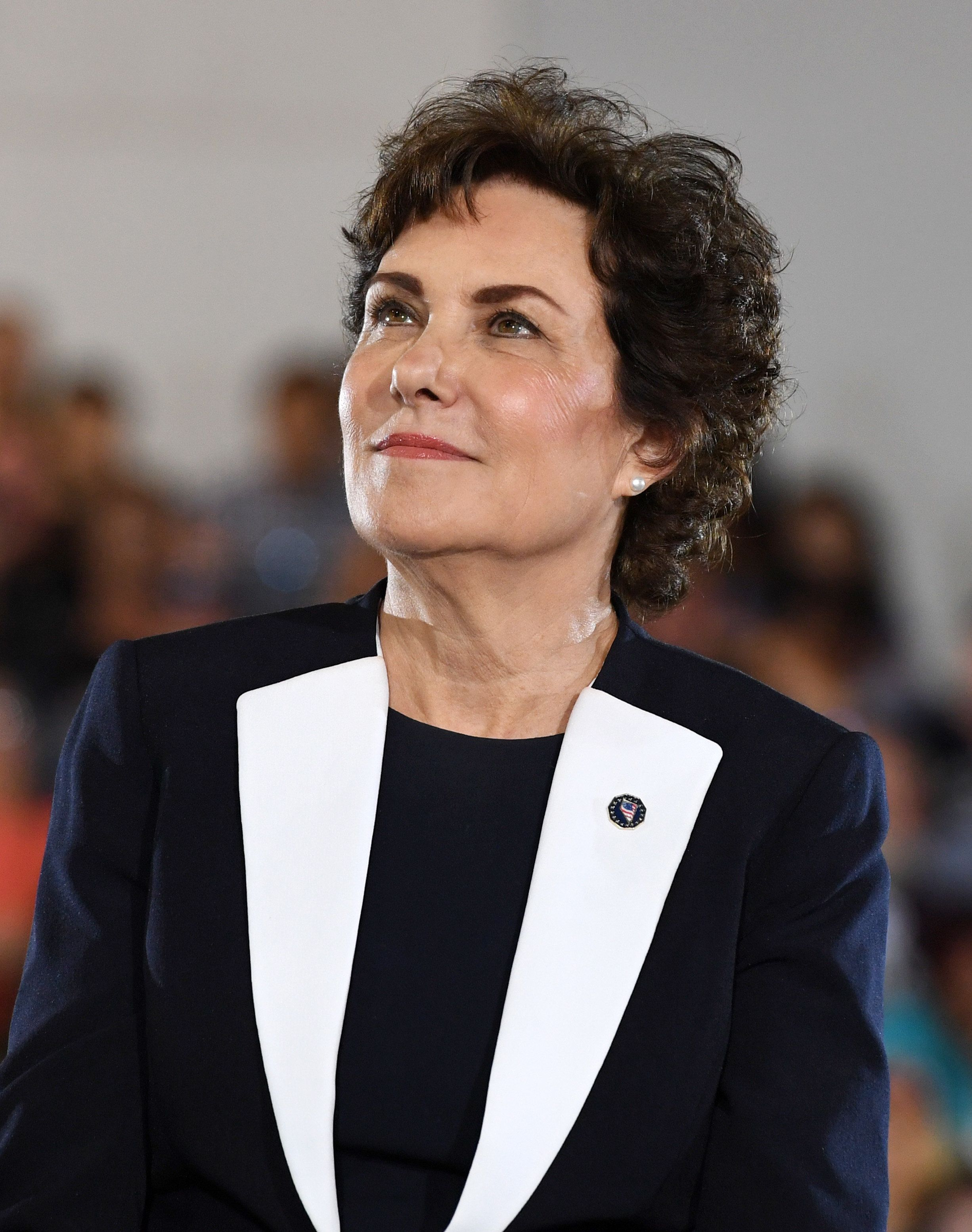 LAS VEGAS, NEVADA - OCTOBER 22:    U.S. Rep. and U.S. Senate candidate Jacky Rosen (D-NV) listens during a get-out-the-vote rally featuring former U.S. President Barack Obama at the Cox Pavilion as he campaigns for Nevada Democratic candidates on October 22, 2018 in Las Vegas, Nevada. Early voting in Clark County, Nevada began on October 20 and has recorded the highest turnout during the first two days of early voting in a midterm election.  (Photo by Ethan Miller/Getty Images)