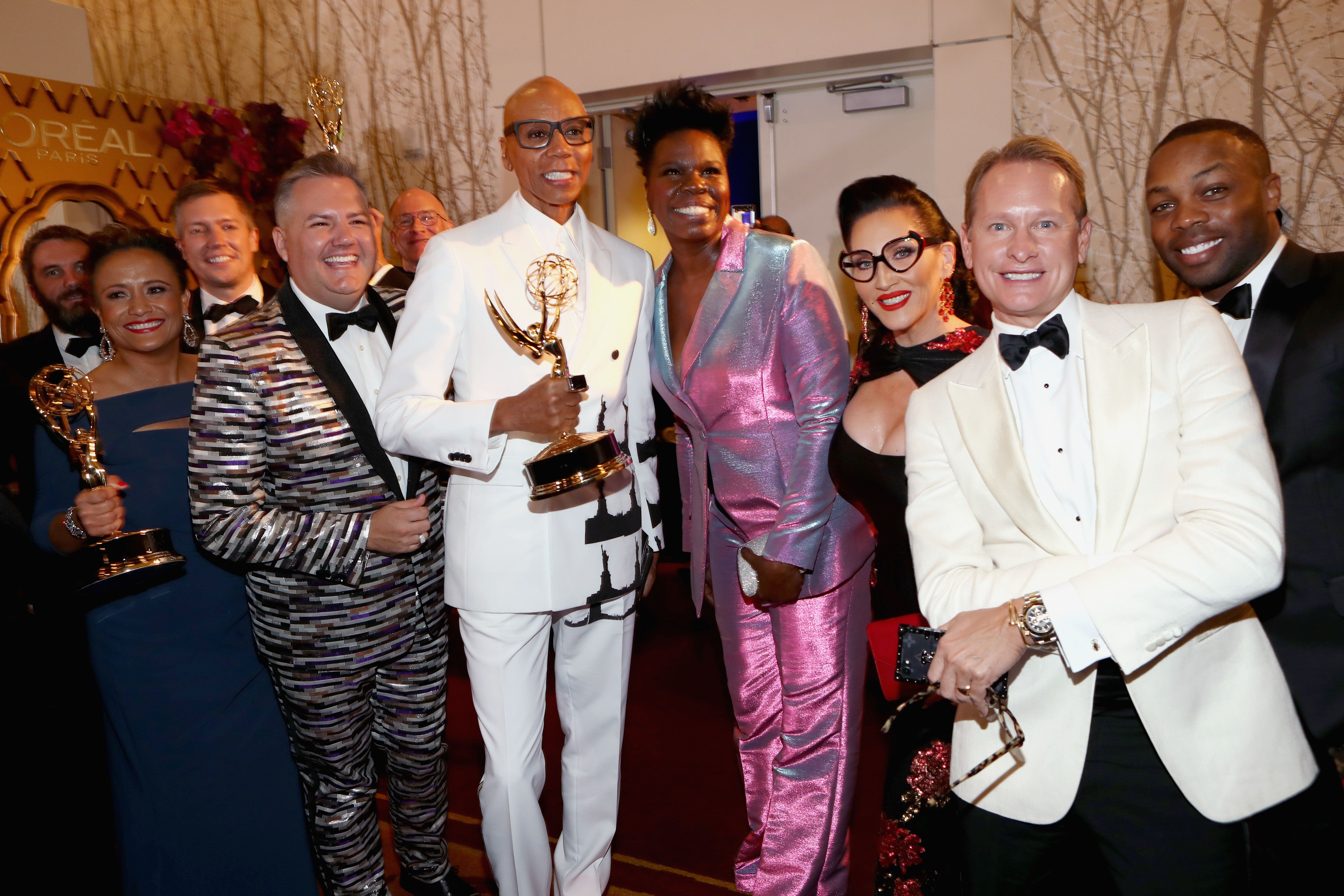 LOS ANGELES, CA - SEPTEMBER 17:  Cast and crew of Outstanding Reality-Competition Program winners for 'RuPaul's Drag Race' attend IMDb LIVE After The Emmys 2018 on September 17, 2018 in Los Angeles, California.  (Photo by Rich Polk/Getty Images for IMDb)