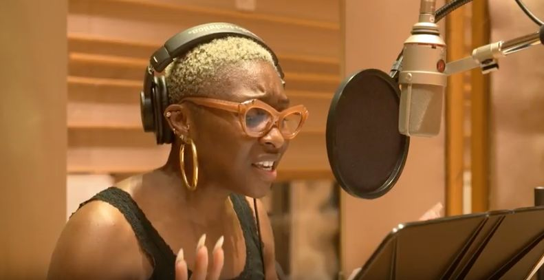 """Color People"" star Cynthia Erivo performs a song for the benefit album, ""Singing You Home."""