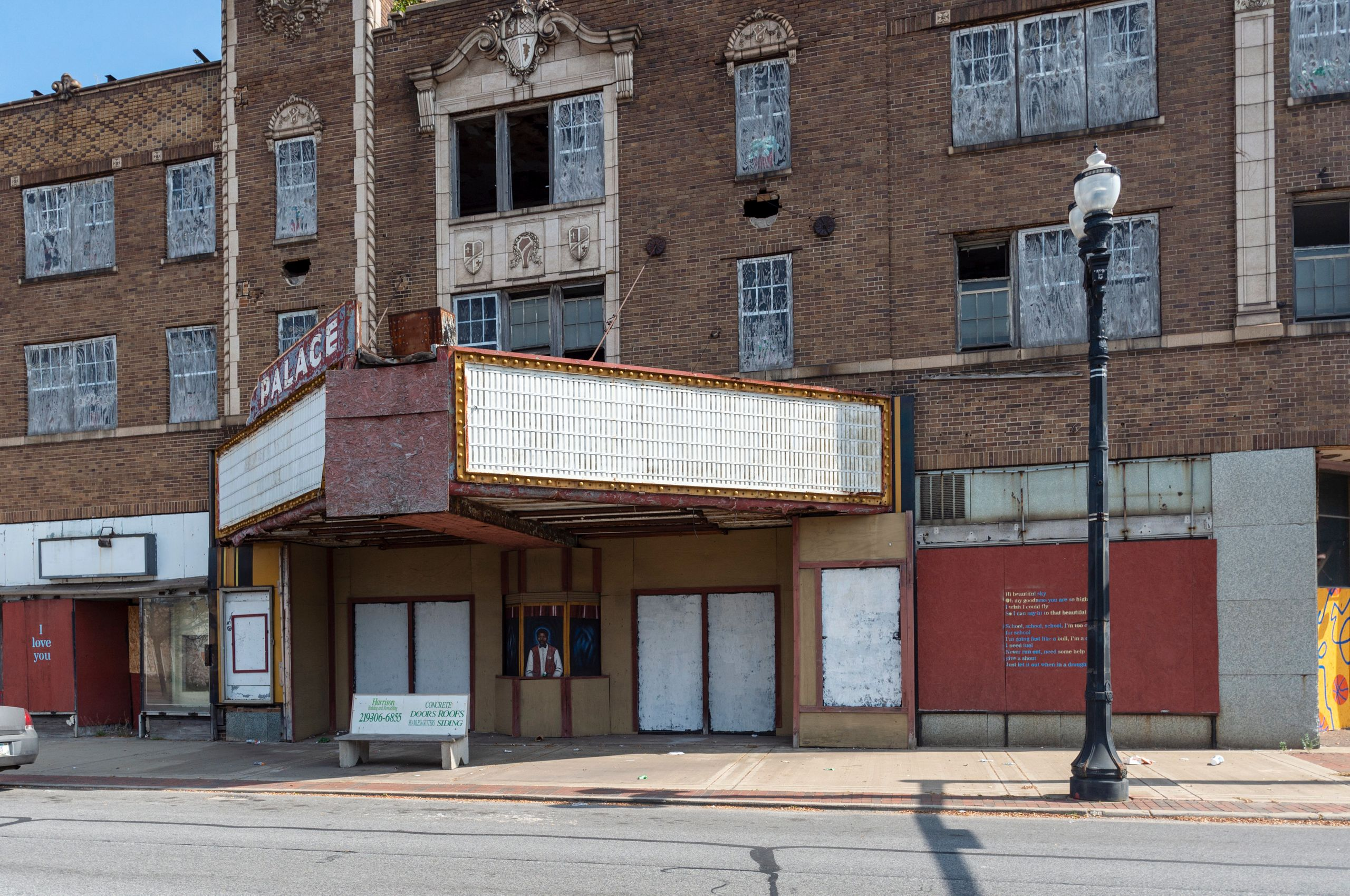 The Palace Theater in downtown Gary has been closed as the building falls into disrepair.