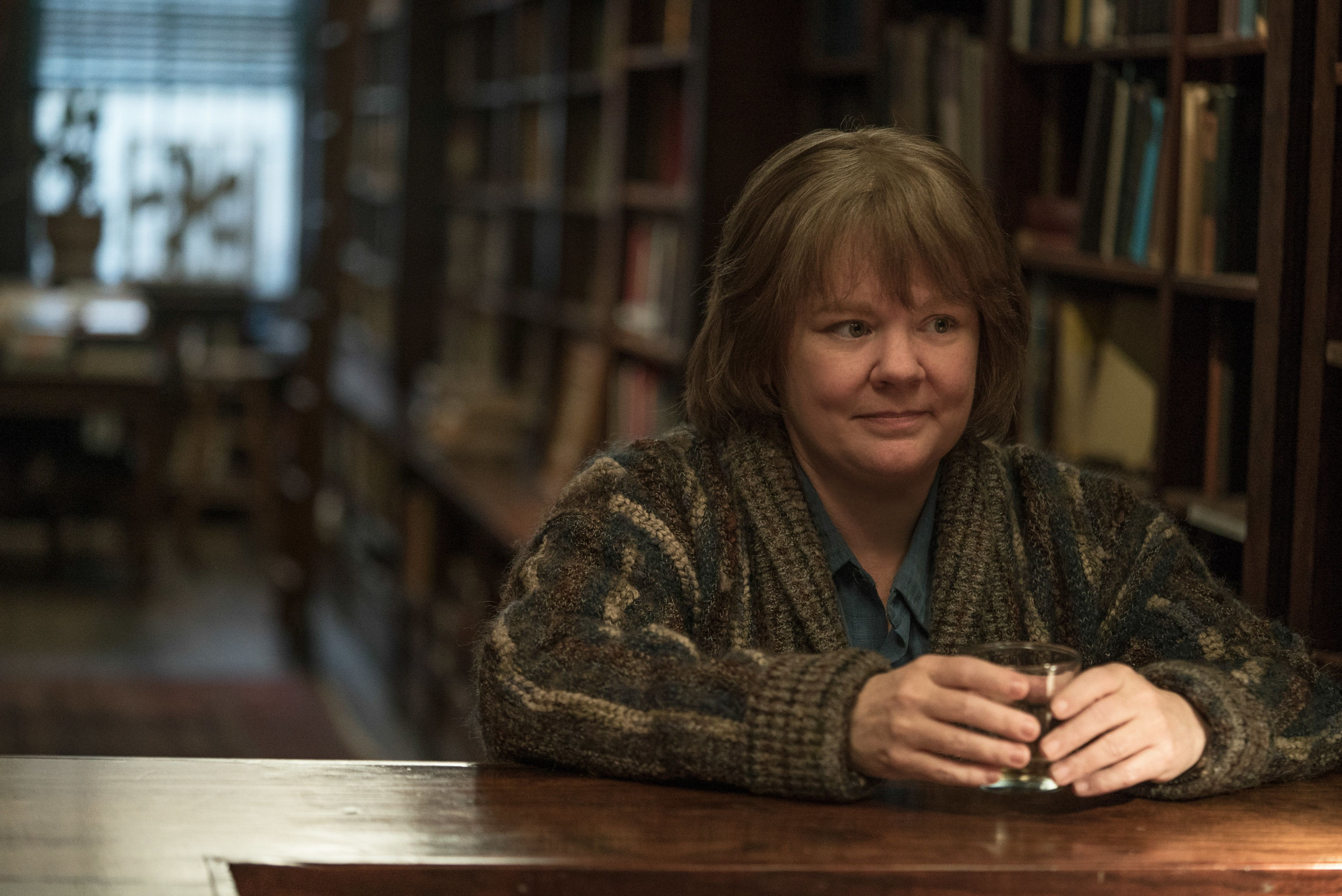 "Mellisa McCarthy as literary letter forger Lee Israel in ""Can You Ever Forgive Me?"""