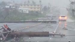 사이판 강타한 태풍 '위투'에 한국인 천여명