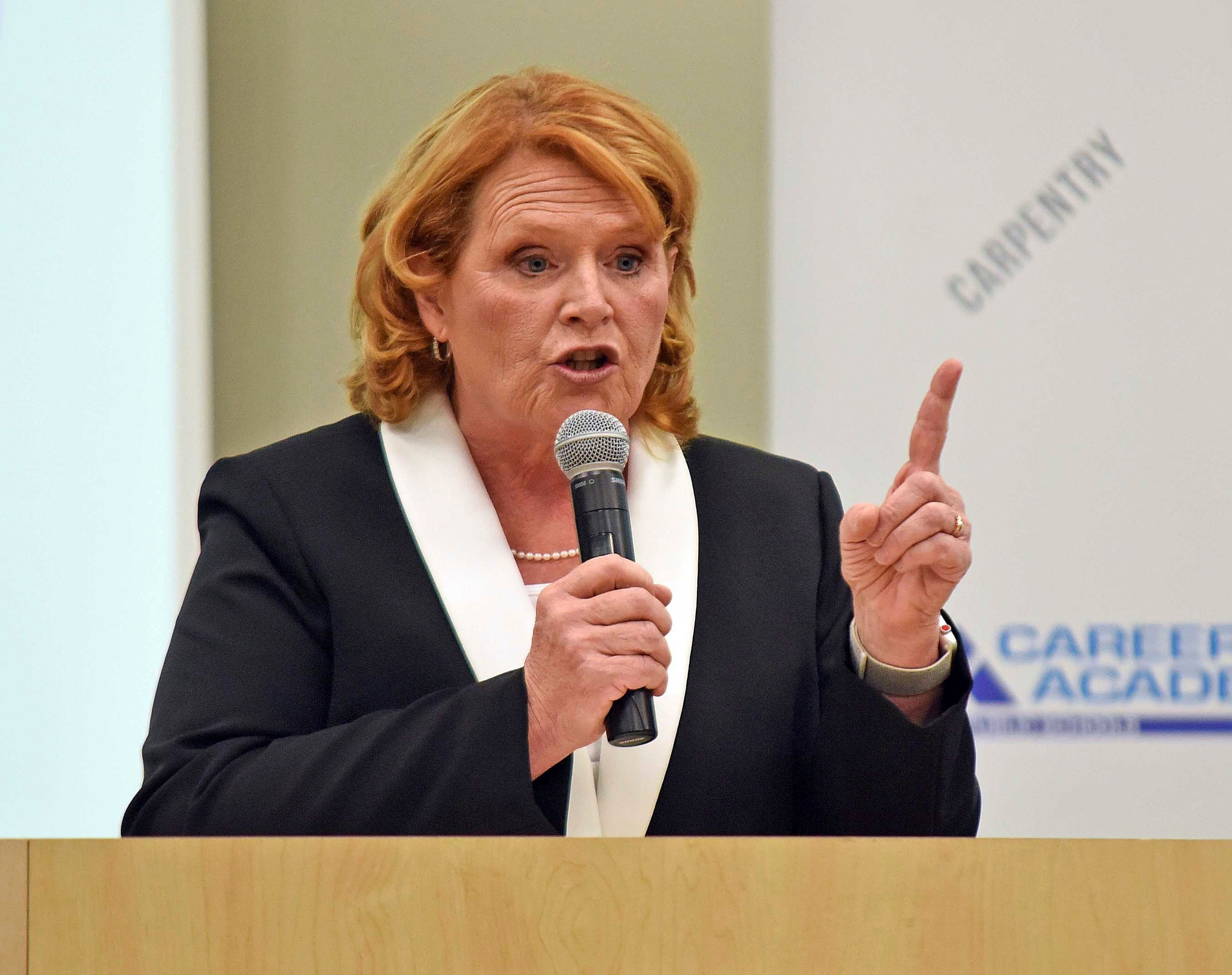 Sen. Heidi Heitkamp (D-N.D.) is an underdog in her re-election bid against Rep. Kevin Cramer (R-N.D.).