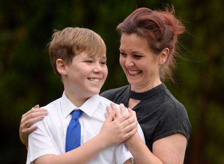 Ben McCabe and his mum Amy.