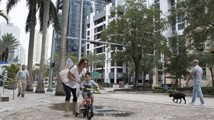 The Brickell neighborhood in downtown Miami. Republican lawmakers in the area have criticized the addition of a citizenship q