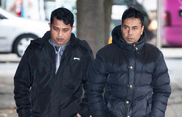 Harun Rashid (left) andMohammed Abdul Kuddus arrive at court earlier this