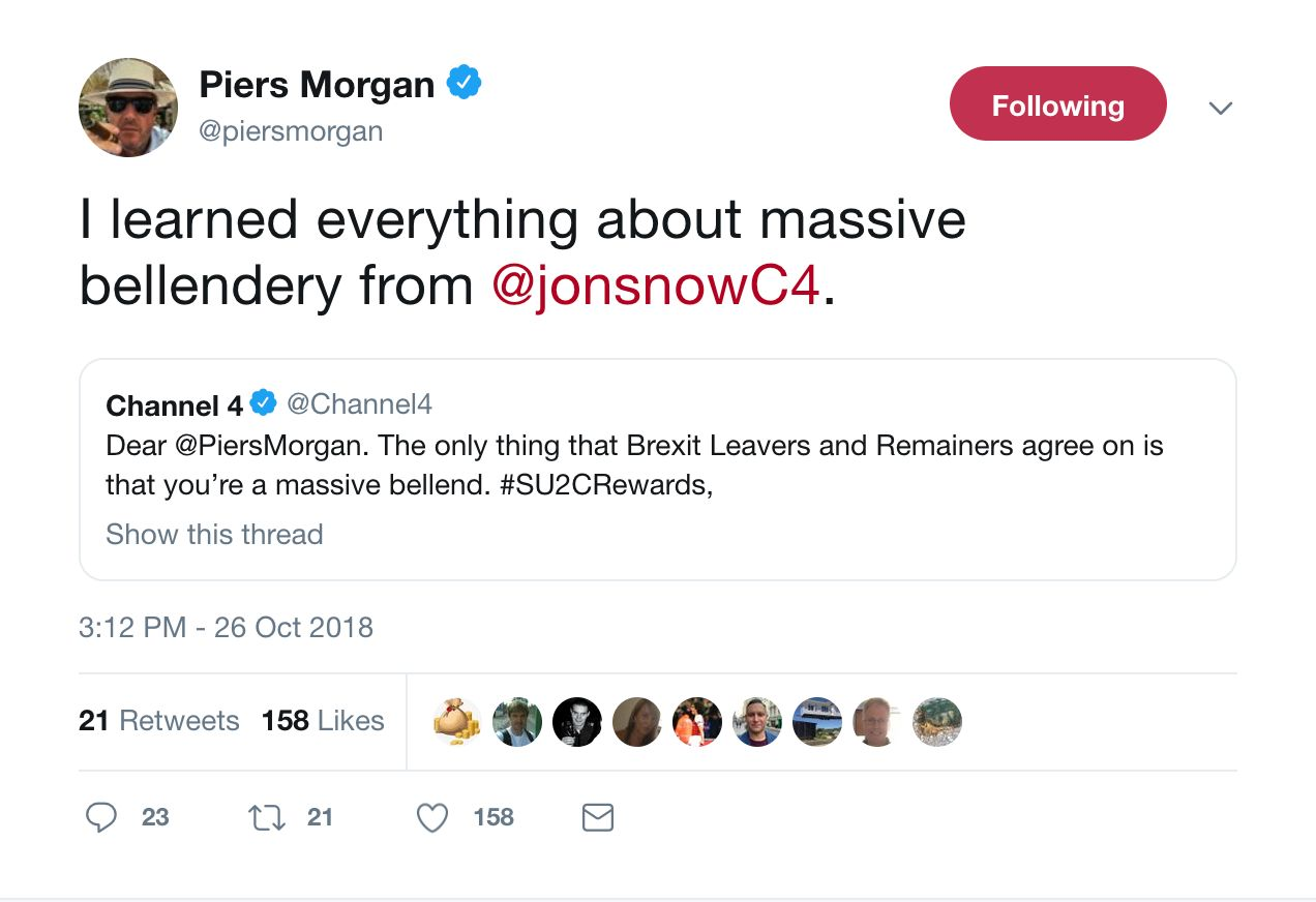 Channel 4 Is Completely Ripping Piers Morgan And It's All For A Great