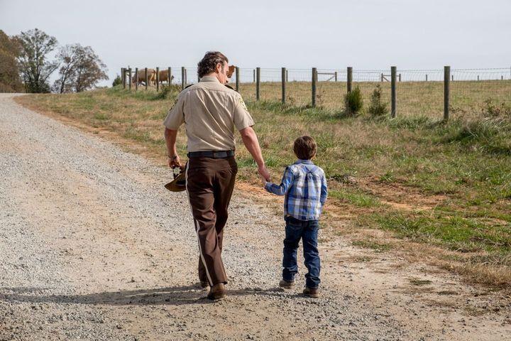 Why didn't Rick Grimes see Carl?