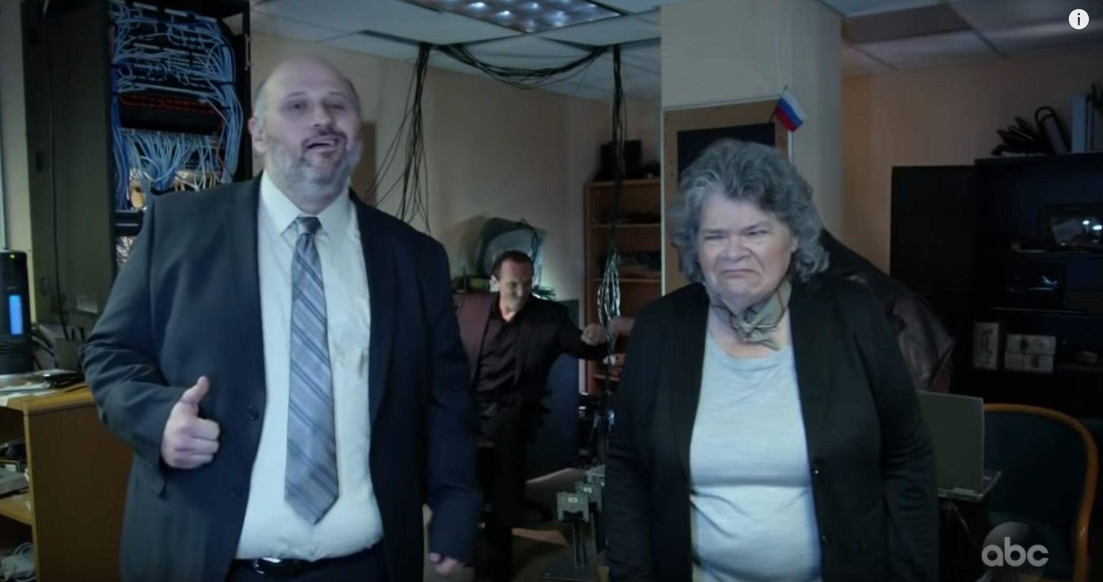 Jimmy Kimmel shows off a Russian troll farm training video