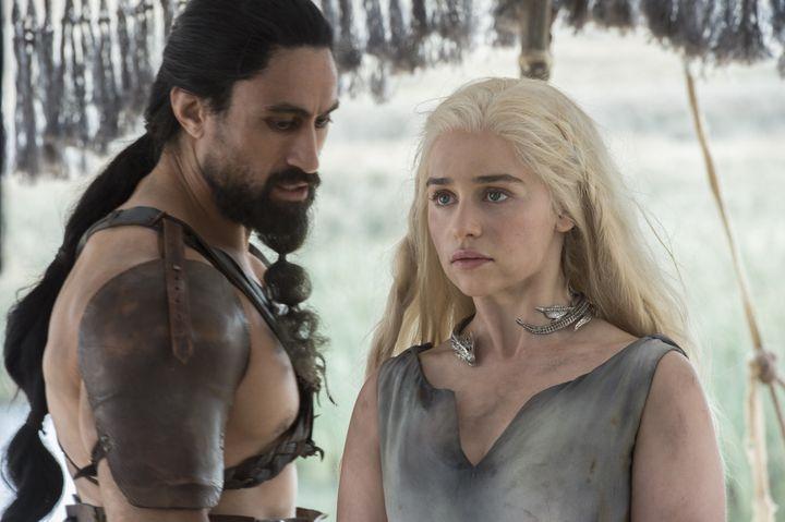 "Emilia Clarke in HBO's ""Game of Thrones."""