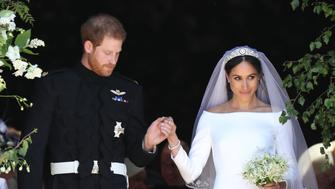 "Online costume store Yandy released a ""sexy"" Meghan Markle wedding dress Halloween costume, complete with a veil and tiara."