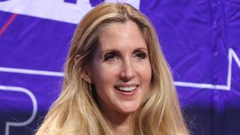 "Ann Coulter participates in the ""AAA: Ask Ann Anything"" panel at Politicon at the Los Angeles Convention Center on Saturday, Oct. 20, 2018, in Los Angeles. (Photo by Willy Sanjuan/Invision/AP)"