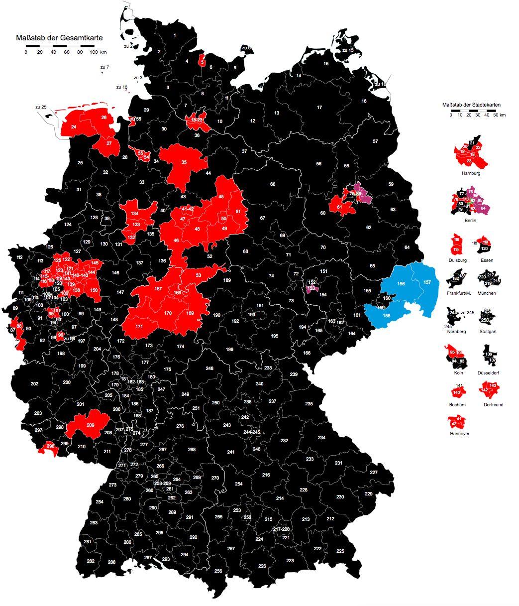 Diese Deutschland-Karte zeigt, wie dramatisch sich die politische Landschaft verändert
