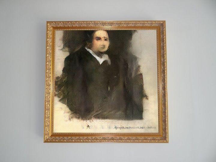 인공지능이 그린 그림 중 처음으로 경매에 붙여진 '에드먼드 데 벨라미'