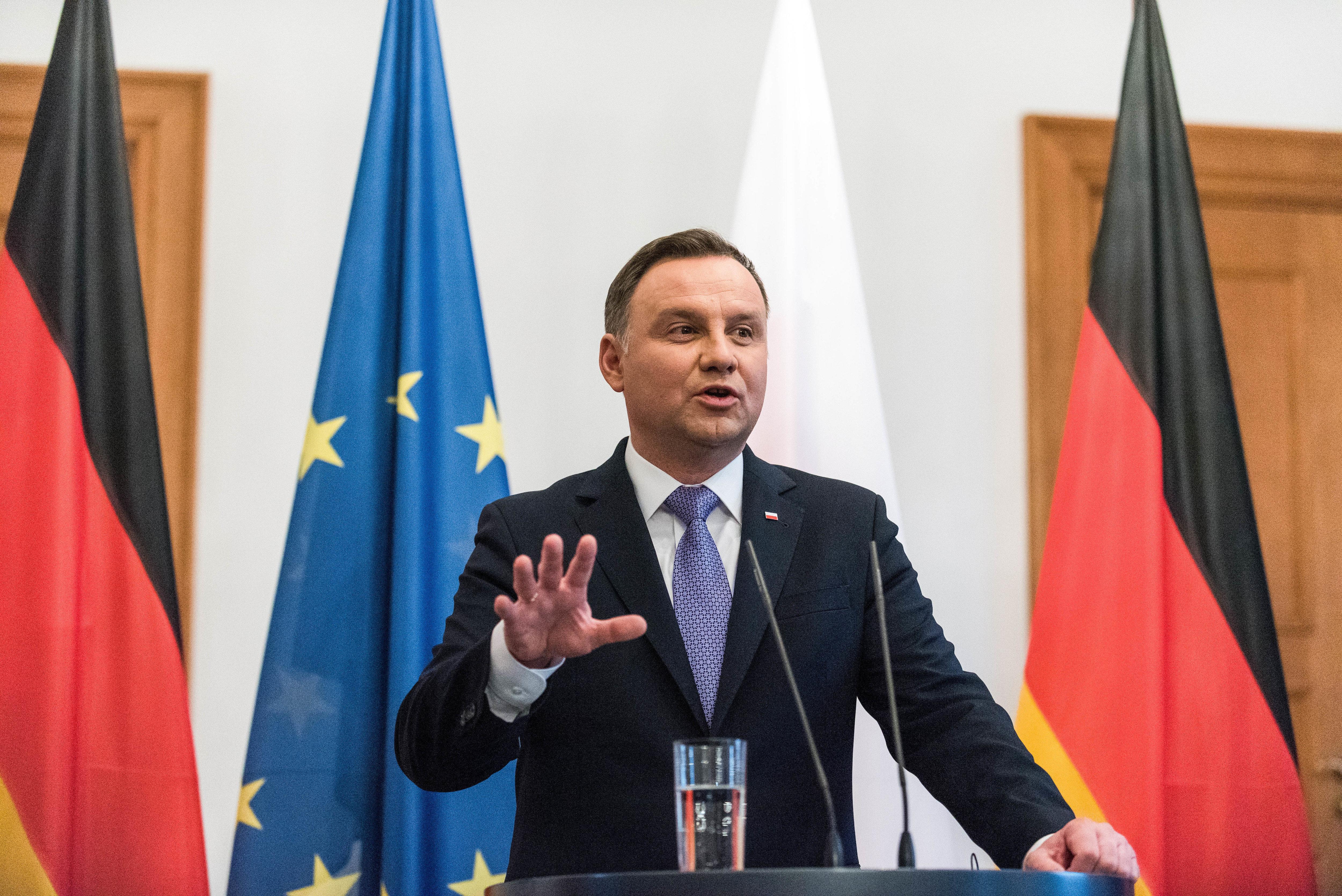 Polens Präsident Duda fordert nach wie vor Milliarden-Reparation von