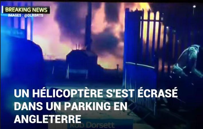 Les images après l'accident d'hélicoptère à