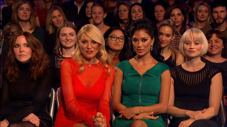 Strictly viewers spotted Nicole Scherzinger getting salty with Tess Daly last night