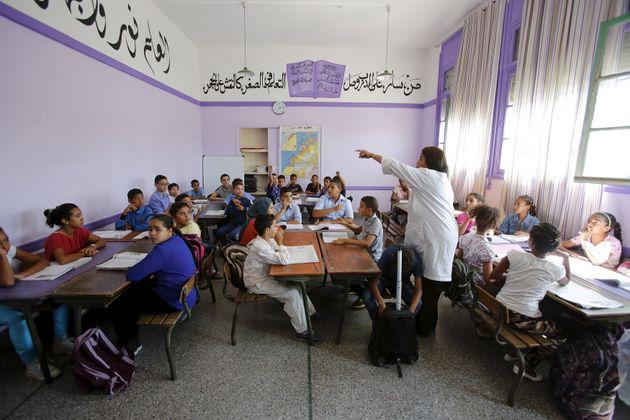 Des élèves dans une école primaire de Rabat, le 15 septembre
