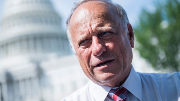 UNITED STATES - SEPTEMBER 07: Rep. Steve King, R-Iowa, attends a rally with Angel Families on the East Front of the Capitol, to highlight crimes committed by illegal immigrants in the U.S., on September 7, 2018. (Photo By Tom Williams/CQ Roll Call)
