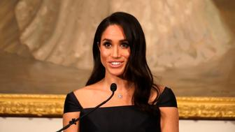 The Duchess of Sussex speaks at a reception hosted by the Governor-General celebrating the 125th anniversary of women's suffrage in New Zealand, at Government House in Wellington, New Zealand.