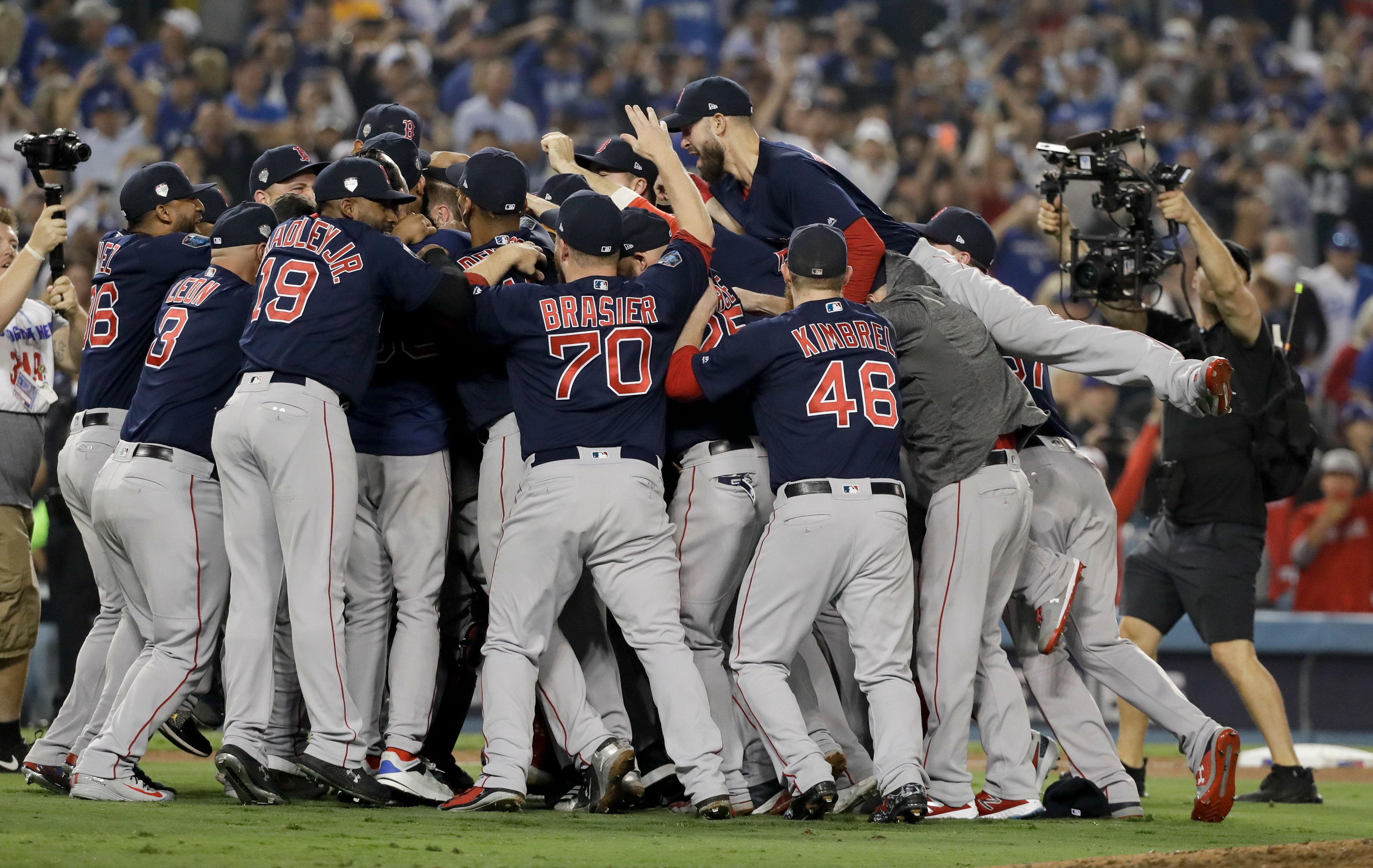 Red Sox Savagely Mock Yankees In World Series Locker Room