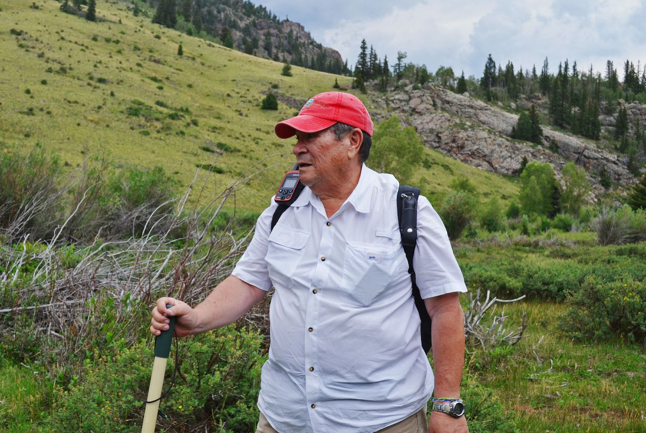 Toby Younis on a hunt for the chest of gold near the Colorado-New Mexico border.