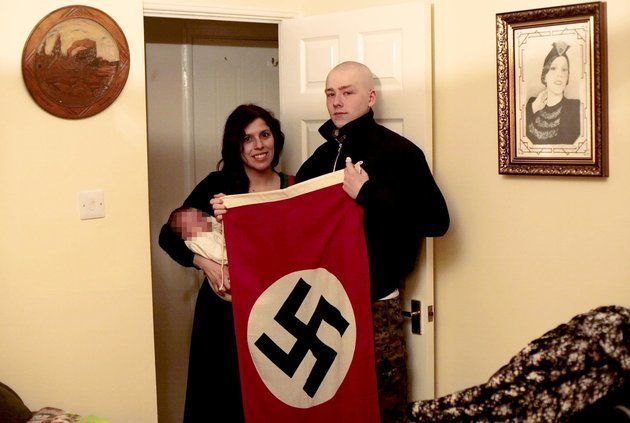 Alleged neo-nazi terrorist Adam Thomas and his joint-accused partner Claudia Patatas with their baby