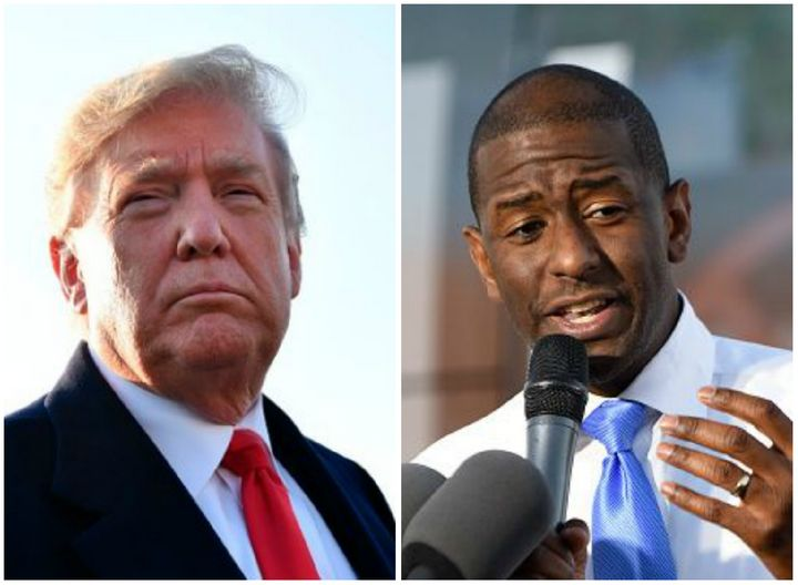 """President Donald Trump wrote that Tallahassee, Florida, MayorAndrew Gillum """"is a thief""""in an Oct. 29 tweet."""