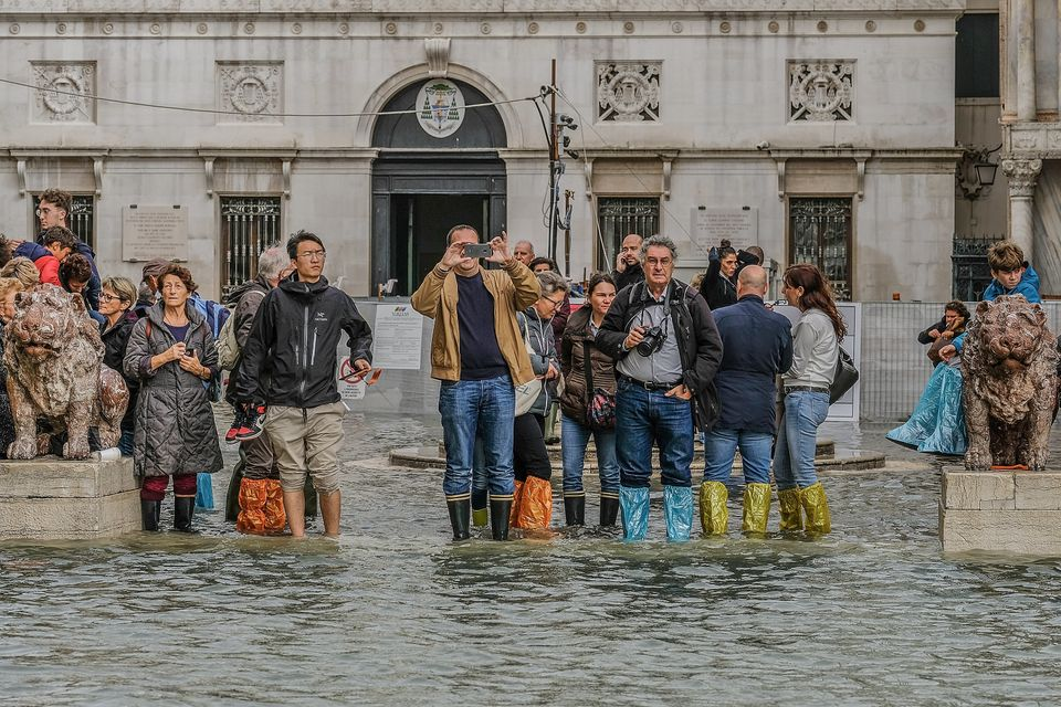 Schools and popular tourist sites were closed around Italy during a period of foul weather, including...