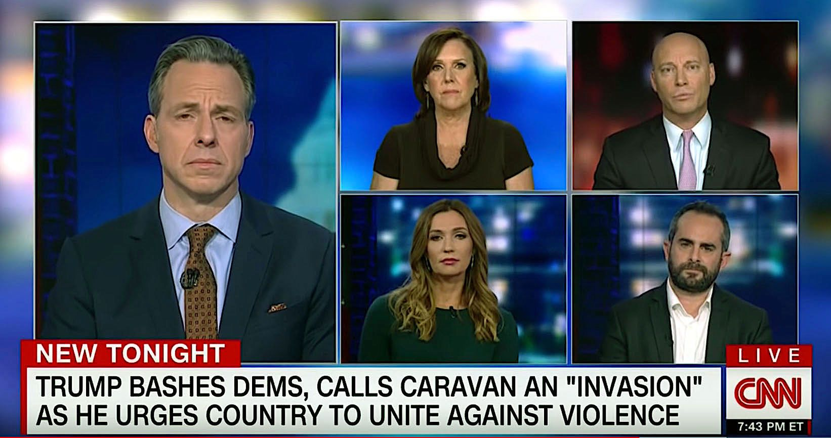 Discussion on CNN about President Donald Trump's rhetoric after the shootings at the Pittsburgh synagogue.