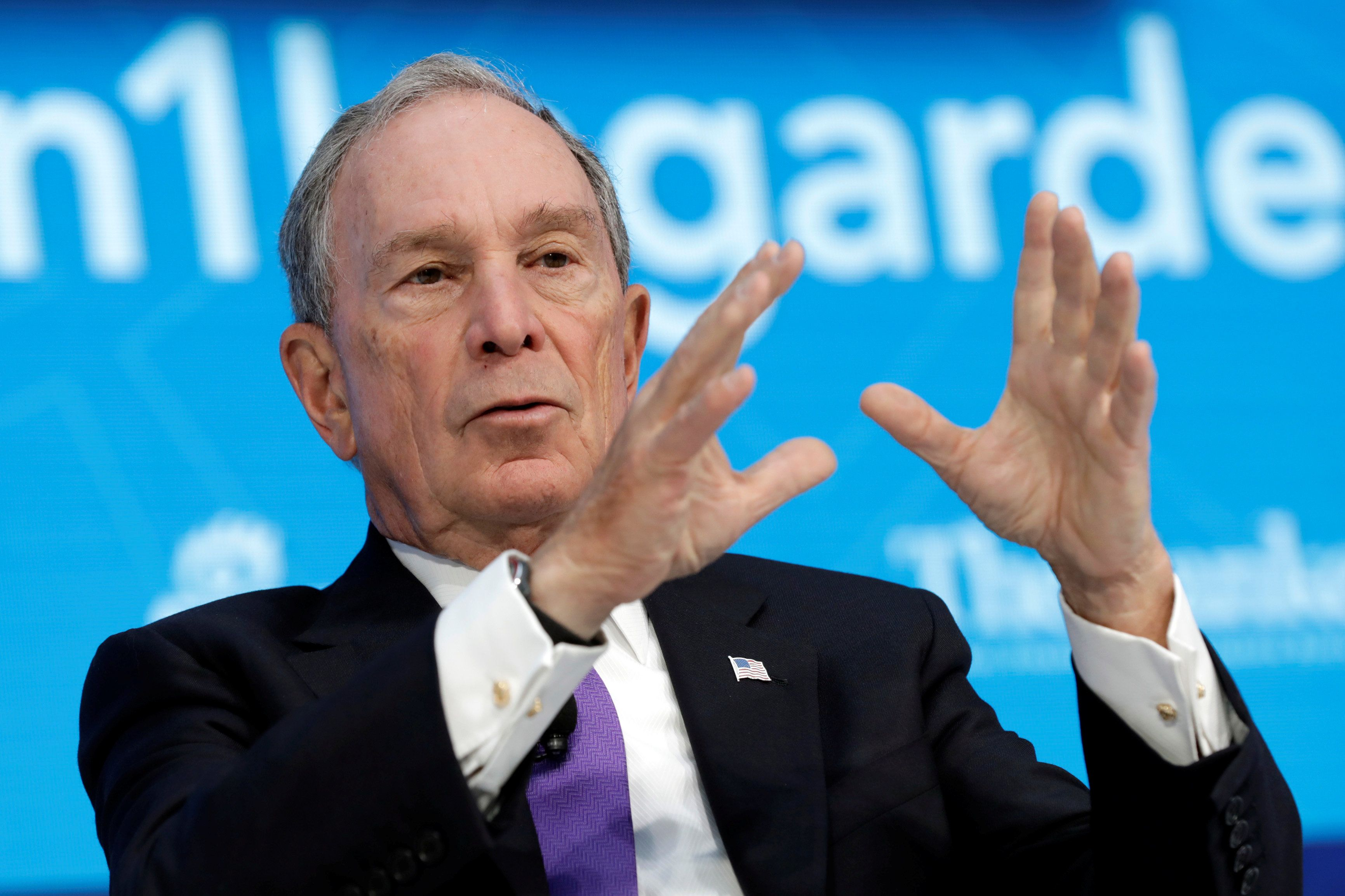 """Former New York Mayor Michael Bloomberg has accused the president of """"inciting"""" hate instead of promoting unity."""