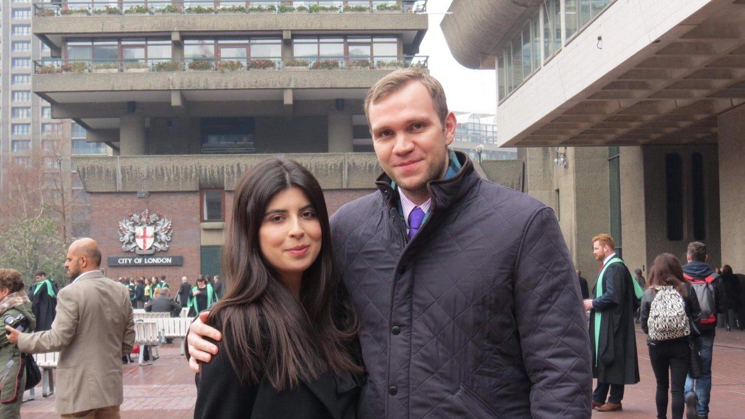 Matthew Hedges with his wife, Daniel