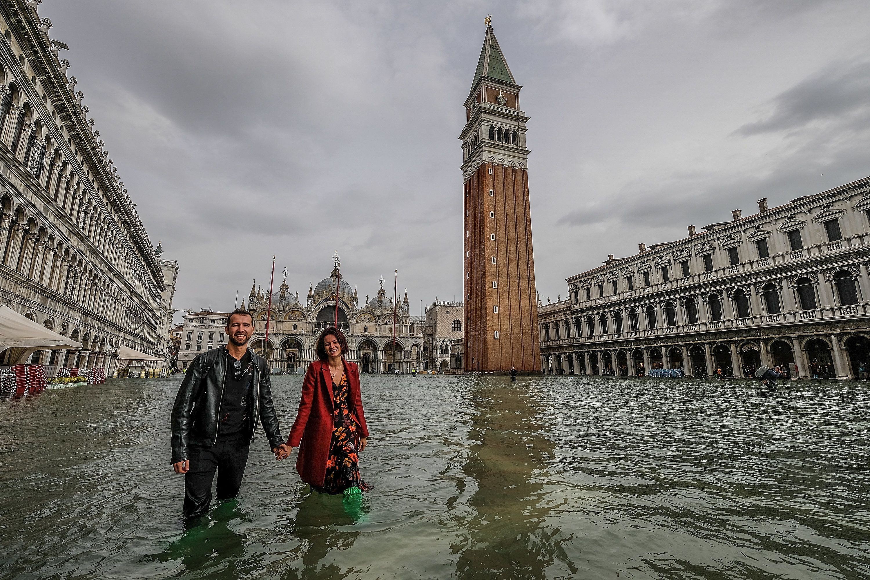 Venice suffers worst floods for a decade as winds raise water level
