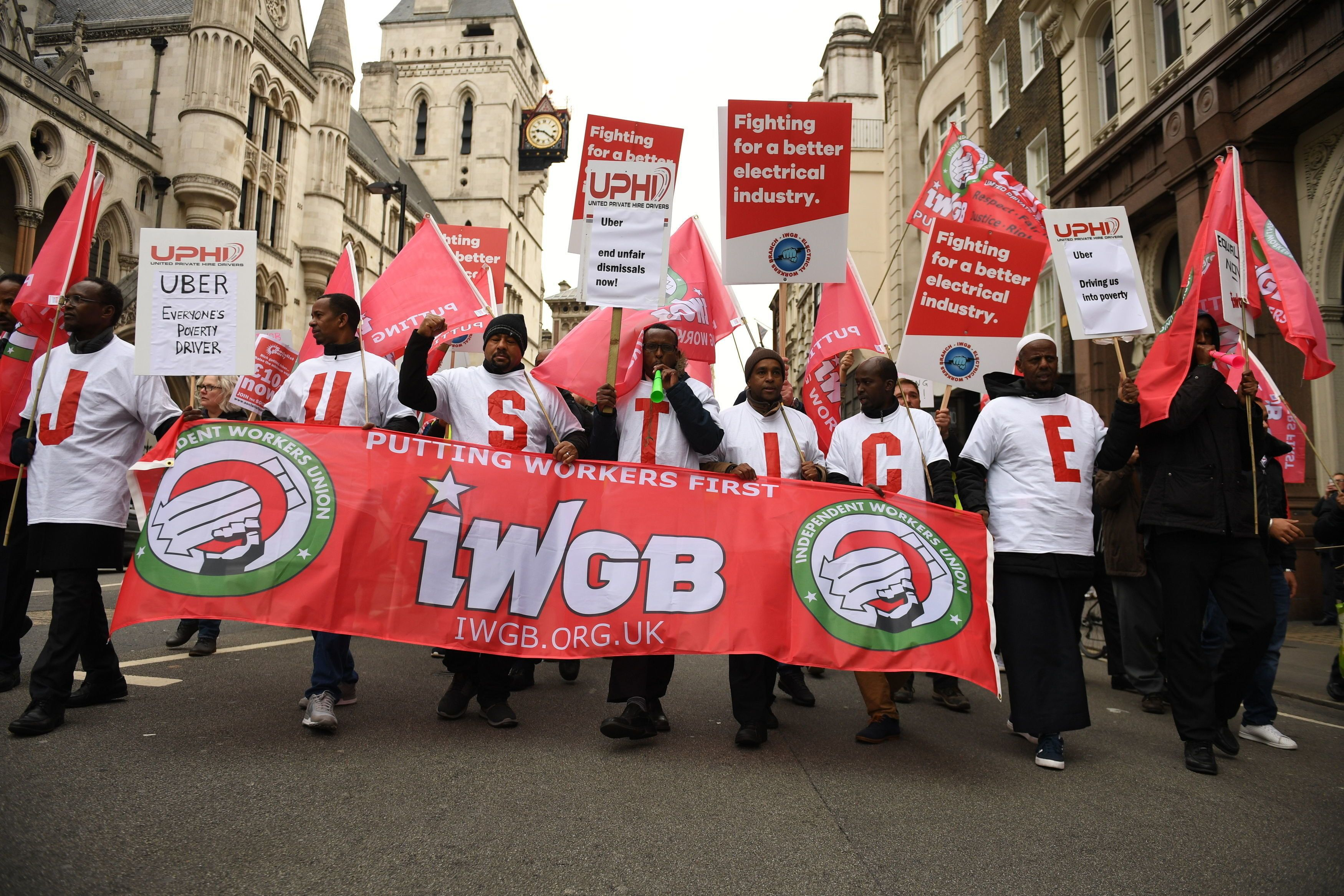 Gig Economy Workers To March Ahead Of Landmark Uber Ruling
