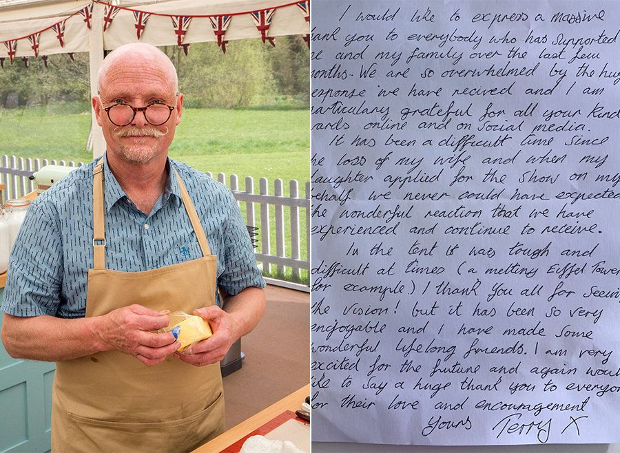 GBBO's Terry Pens Heartwarming Letter To Fans Ahead Of