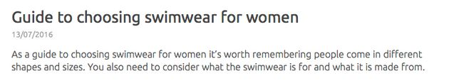 Swim England Removes Swimwear Advice For Women With 'Flabby