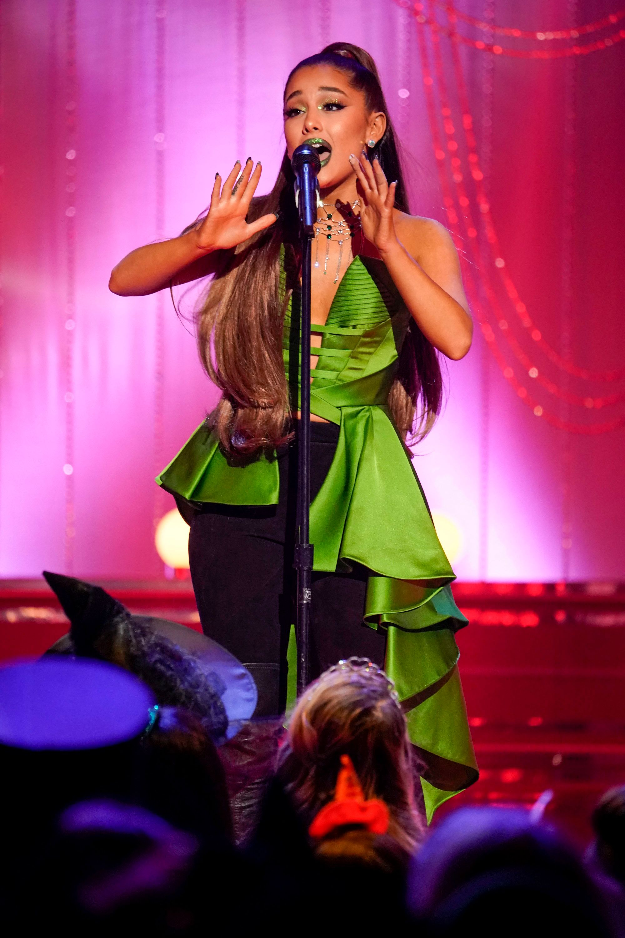 """Ariana Grande performs at the """"Wicked"""" 15th anniversary special."""