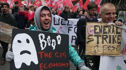 Protests In London As Uber Appeals 'Worker' Status For