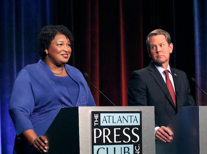 Democratic Georgia governor candidate Stacey Abrams and GOP rival Brian Kemp.