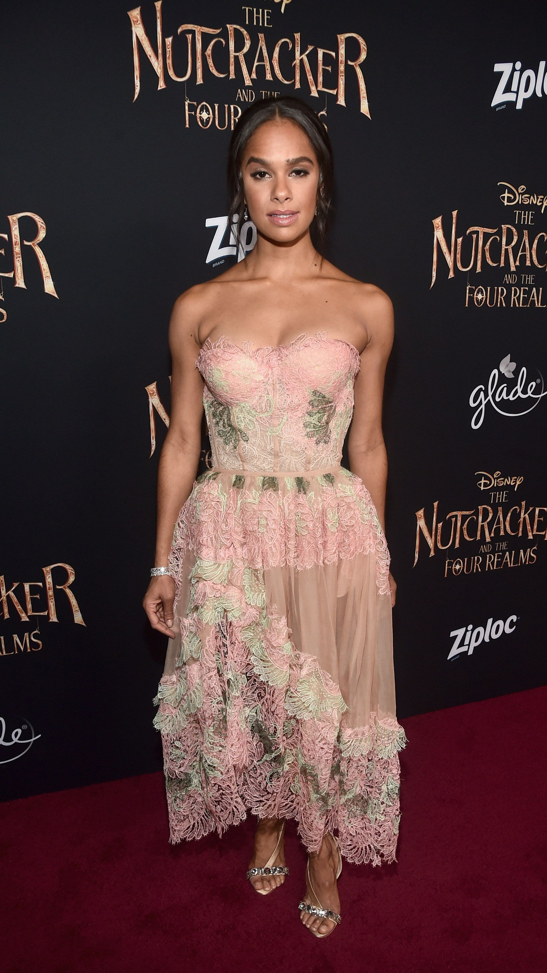 HOLLYWOOD, CA - OCTOBER 29: (EDITORS NOTE: Retransmission with alternate crop.) Misty Copeland arrives at the world premiere of Disney's 'The Nutcracker and the Four Realms' October 29th at Hollywood's El Capitan Theatre. MackenzieFoy, Morgan Freeman, Misty Copeland, Jayden Fowora Knight, Jack Whitehall and Lil Buck, as well as filmmakers Lasse Hallstrom (director), Joe Johnston (director) and Mark Gordon (producer) were in attendance. October 29th, 2018.  (Photo by Alberto E. Rodriguez/Getty Images for Disney)