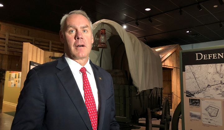 Interior Secretary Ryan Zinke put his foot in it again, this time at a ceremony designating a training depot for black Union