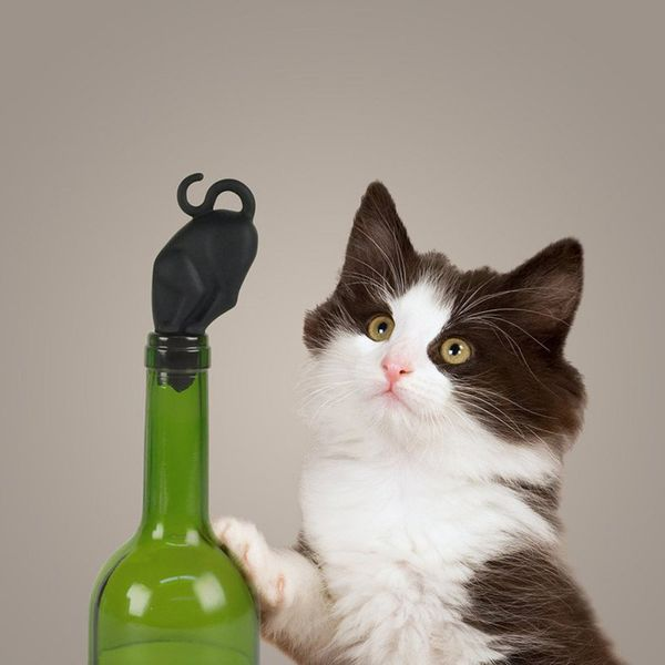 "Want to get your cat more interested in wine? Don't we all? A first step might be this <a href=""https://www.houzz.com/product"