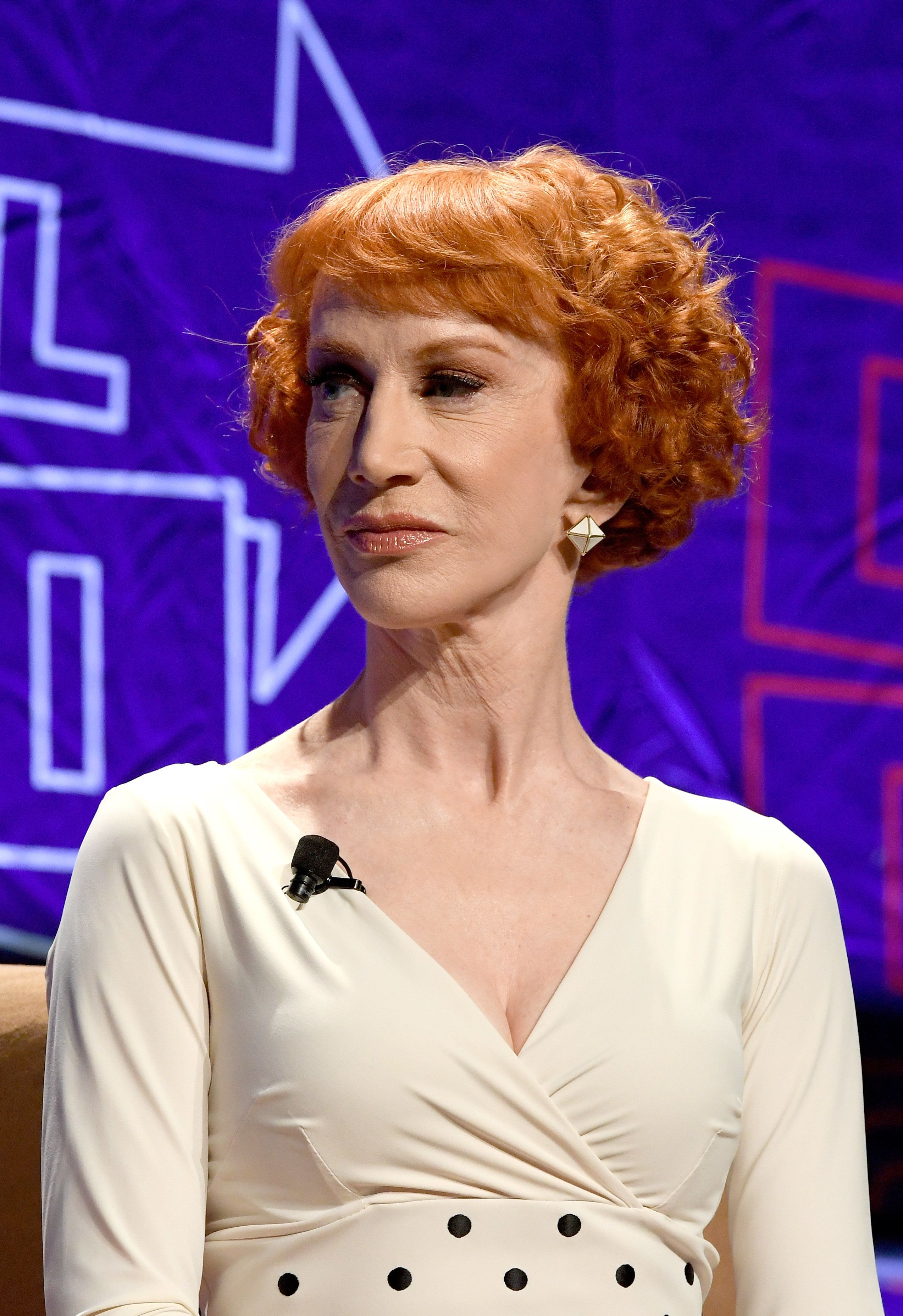 LOS ANGELES, CA - OCTOBER 20:  Kathy Griffin speaks onstage at Politicon 2018 at Los Angeles Convention Center on October 20, 2018 in Los Angeles, California.  (Photo by Michael S. Schwartz/Getty Images)