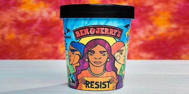 '벤앤제리'가 새로 출시한 반트럼프 아이스크림에 담긴