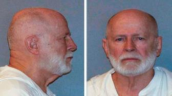 "FILE PHOTO: Former mob boss and fugitive James ""Whitey"" Bulger is seen in a combination of booking mug photos released to Reuters on August 1, 2011.   REUTERS/U.S. Marshals Service/U.S. Department of Justice/Handout"