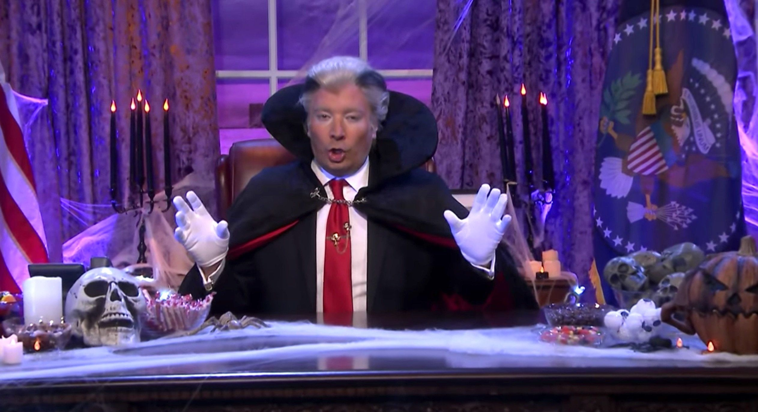 Fallon Trolls 'Count Trumpula' By Revealing Why Halloween Is His Perfect