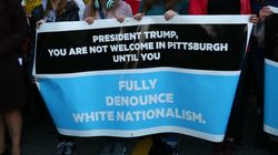 Trump Met With Protests At Pittsburgh