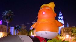 Trump Baby Balloon In San Diego Protest Over Troops At US-Mexico