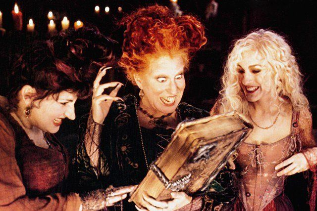 "Kathy Najimy, Bette Midler and Sarah Jessica Parker in ""Hocus Pocus."""