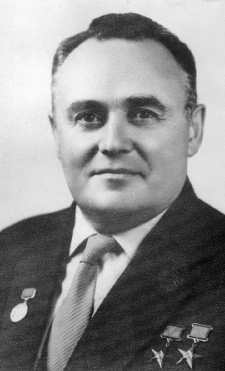 The USSR gave the moon rocks to the widow of Soviet space program director Sergei Pavlovich Korolev, following his death.